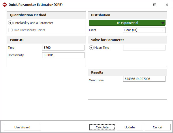 Figure 4: Quick Parameter Experimenter and the Mean Time of Event S1